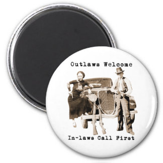 Bonnie Parker & Clyde Barrow 6 Cm Round Magnet