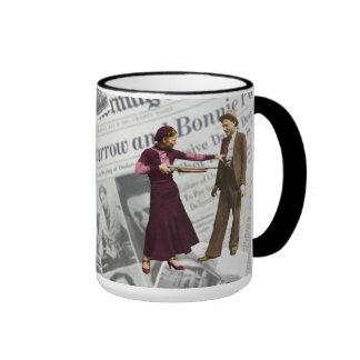 Bonnie Parker & Clyde Barrow Ringer Mug