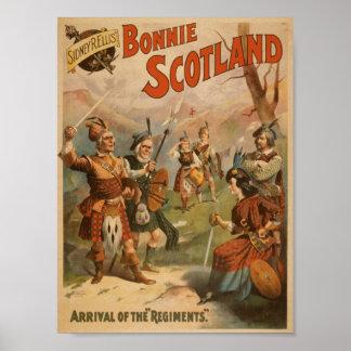 Bonnie Scotland Arrival of the Regiments Poster