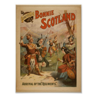 Bonnie Scotland Arrival of the Regiments Posters
