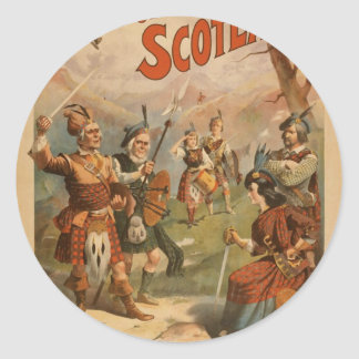 Bonnie Scotland,  'Arrival of the Regiments' Round Stickers