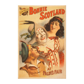 Bonnie Scotland at the Fair Clown Theatre Canvas Print