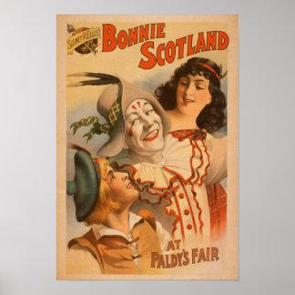 Bonnie Scotland at the Fair Clown Theatre Poster