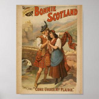 Bonnie Scotland, 'Come Under my Plaidie' Retro The Poster