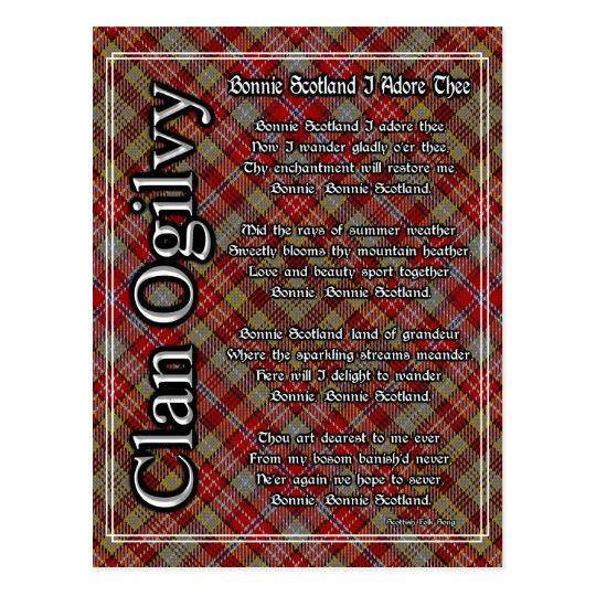 Bonnie Scotland I Adore Thee Clan Ogilvy Tartan