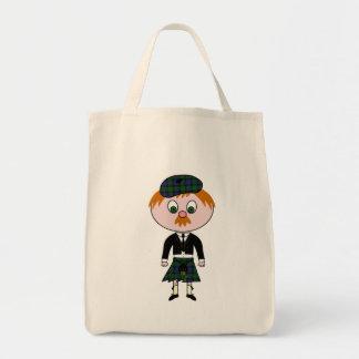 Bonnie Wee Scotsman Grocery Tote Bag