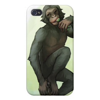 Bonobo Eating Fruit iPhone case Case For iPhone 4