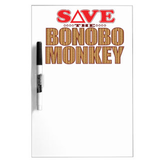 Bonobo Monkey Save Dry Erase Board
