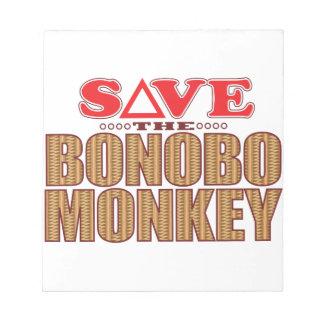 Bonobo Monkey Save Notepads