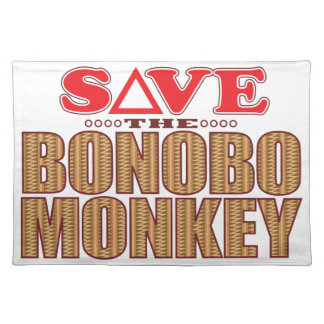 Bonobo Monkey Save Placemat