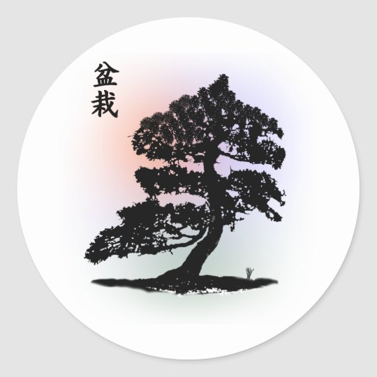 bonsai 01 classic round sticker