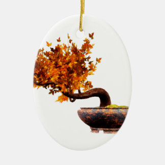 Bonsai 2 ceramic oval decoration