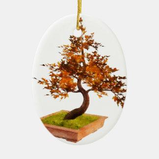 Bonsai 4 ceramic oval decoration
