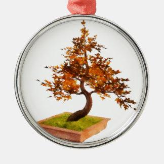 Bonsai 4 Silver-Colored round decoration