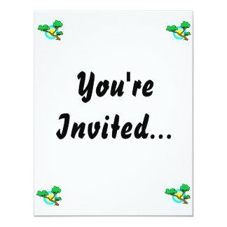 Bonsai Against Sun Abstract Graphic Image 11 Cm X 14 Cm Invitation Card