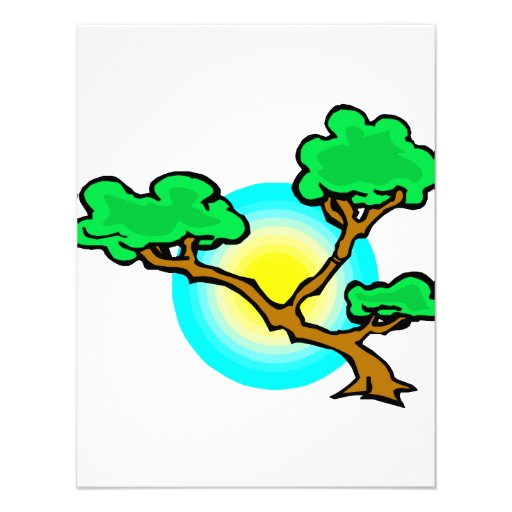 Bonsai Against Sun Abstract Graphic Image Invitations
