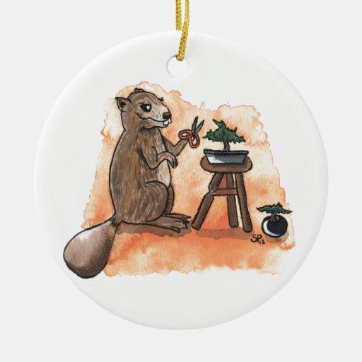 Bonsai Beaver Ornament