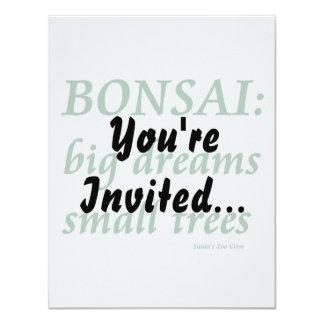 Bonsai , Big Dreams Small Trees Design Personalized Invite