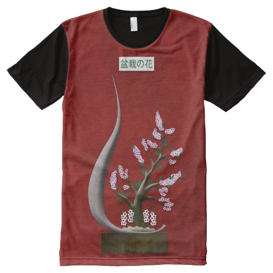 Bonsai Blossom All-Over Print T-Shirt