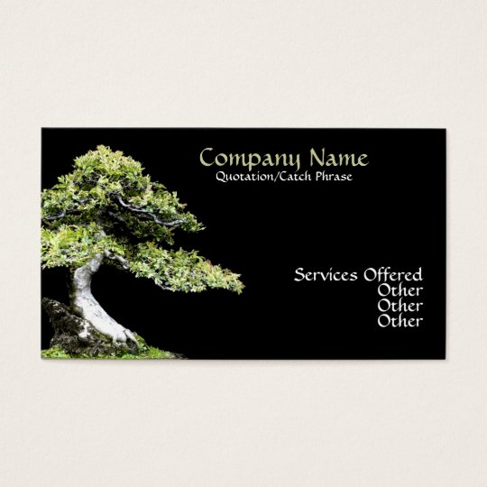 Bonsai Business card