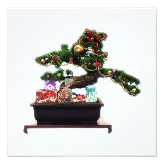 Bonsai Christmas Tree 13 Cm X 13 Cm Square Invitation Card