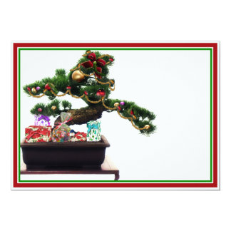 Bonsai Christmas Tree 13 Cm X 18 Cm Invitation Card