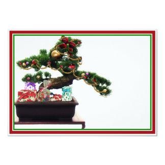 Bonsai Christmas Tree 13 Cm X 18 Cm Invitation Card