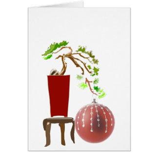 Bonsai Christmas Tree Greeting Card