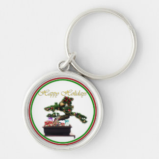 Bonsai Christmas Tree Keychain