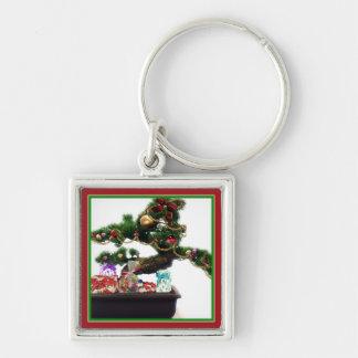 Bonsai Christmas Tree Key Chain