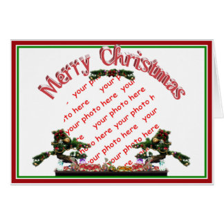 Bonsai Christmas Tree Photo Frame Greeting Cards