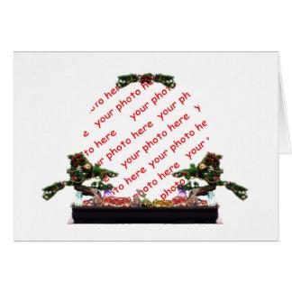 Bonsai Christmas Tree Photo Frame Greeting Card
