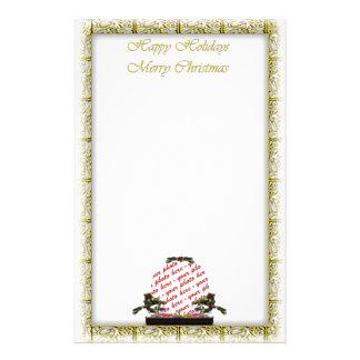 Bonsai Christmas Tree Photo Frame Stationery Design