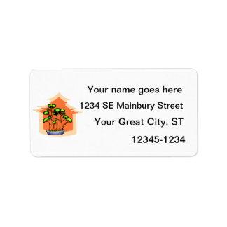 Bonsai Clump Graphic Image 1 Address Label