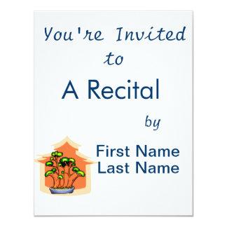 Bonsai Clump Graphic Image 1 4.25x5.5 Paper Invitation Card
