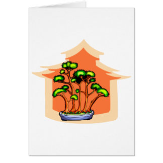 Bonsai Clump Graphic Image 1 Note Card