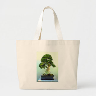Bonsai Cypress Tree Large Tote Bag