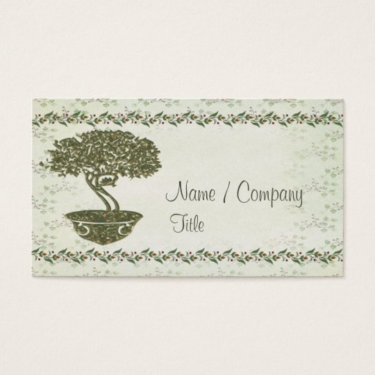 Bonsai Elegance Business Card