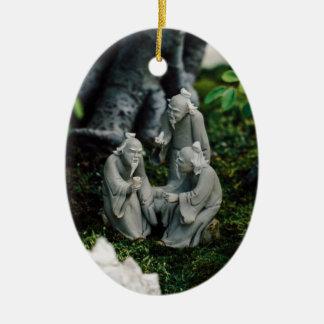 Bonsai Figurines Ceramic Oval Decoration