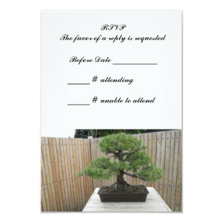 Bonsai Mugo Pine Wedding RSVP 9 Cm X 13 Cm Invitation Card