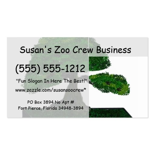 Bonsai Painting, Upright old tree #2 Business Cards