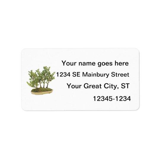 Bonsai Photo 3 Address Label