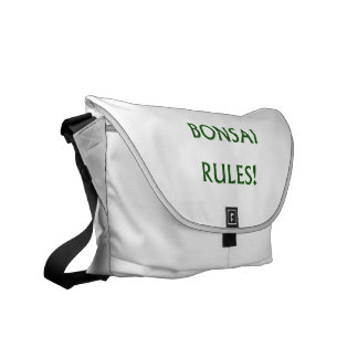 Bonsai Rules Green Text Commuter Bag