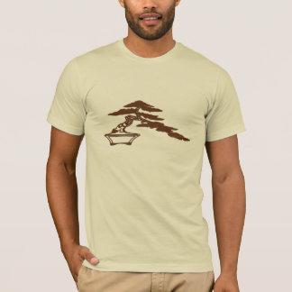 Bonsai silhouette, semi-cascade style (brown ink) T-Shirt