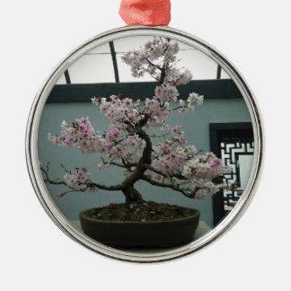 Bonsai Silver-Colored Round Decoration