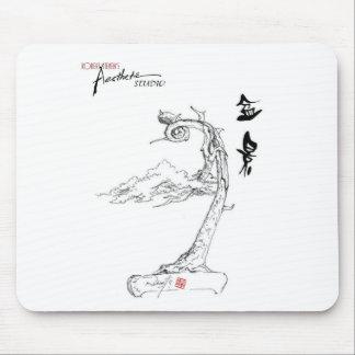 Bonsai Sketch Mouse-pad by Robert Steven9 Mousepads