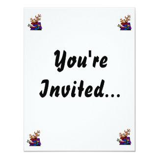 """Bonsai Still Live Graphic Image 4.25"""" X 5.5"""" Invitation Card"""