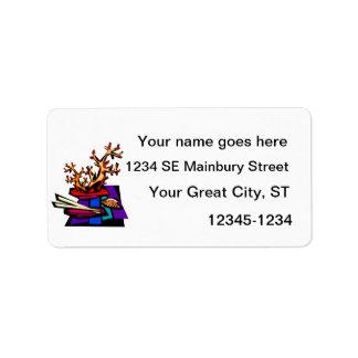 Bonsai Still Live Graphic Image Address Label