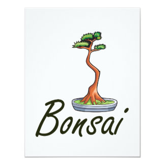 Bonsai text literati graphic card
