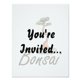 Bonsai text literati graphic custom invites